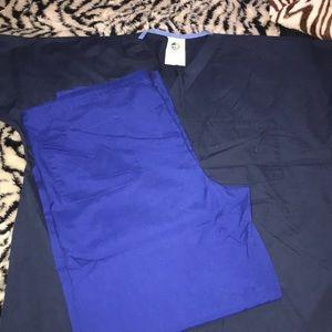Tops - Mismatched Scrub Set Blue size medium